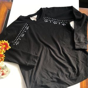 Two By Vince Camuto Embellished Bring crew Sweater